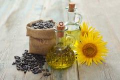 Sunflower oil in bottles Stock Photography