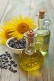 Sunflower oil Stock Photos