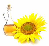 Sunflower  and oil Stock Photo