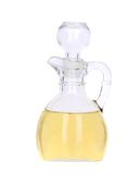 Sunflower oil in glass carafe. Royalty Free Stock Photography