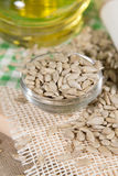 Sunflower oil and seeds Stock Photography