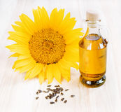 Sunflower oil. Royalty Free Stock Images