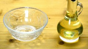 Sunflower oil with sunflower seeds stock video