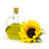 Sunflower oil and sunflowers Royalty Free Stock Photo