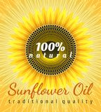 Sunflower oil poster royalty free illustration
