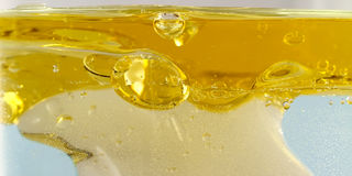 Sunflower oil in water Royalty Free Stock Photography