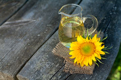 Sunflower oil Stock Photos