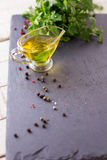 Sunflower or olive oil Stock Photography