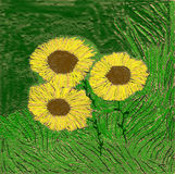 Sunflower-painting Royalty Free Stock Image