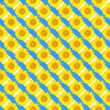 Sunflower pattern Royalty Free Stock Photos