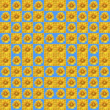 Sunflower pattern Stock Image