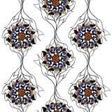 Sunflower pattern Royalty Free Stock Image