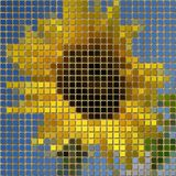 Sunflower pixelated image generated texture Royalty Free Stock Images