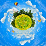 Sunflower Planet concept Stock Image