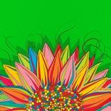 Sunflower Pop Art Royalty Free Stock Photo