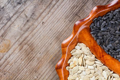 Sunflower and pumpkin seeds Royalty Free Stock Image