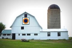 Sunflower Quilt Barn Royalty Free Stock Photo