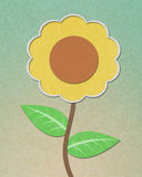 Sunflower recycled paper craft Stock Image