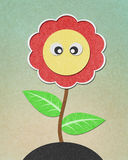 Sunflower recycled paper craft Royalty Free Stock Image