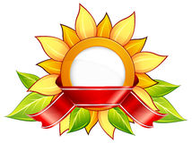 Sunflower & ribbon Stock Photo