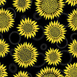 Sunflower seamless background Royalty Free Stock Photo