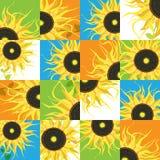 Sunflower seamless pattern Stock Image