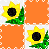 Sunflower. A seamless summer pattern with sunflowers royalty free illustration