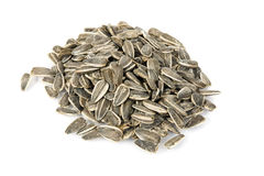 Sunflower seed. Isolated on white background Royalty Free Stock Images