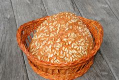 Sunflower seed bread Stock Photo