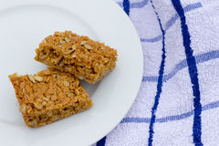 Sunflower Seed Flapjack. Two slices of sunflower seed flapjack Royalty Free Stock Photos