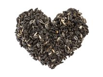 Sunflower Seed heart Stock Photography
