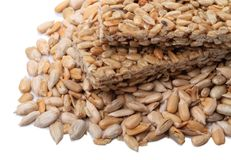 Sunflower seed kernels Stock Image