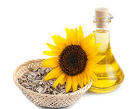 Sunflower seed oil Royalty Free Stock Images