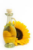 Sunflower seed oil. On a white background Stock Images