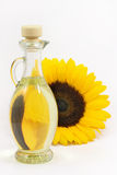 Sunflower seed oil. On a white background 2 Royalty Free Stock Photography