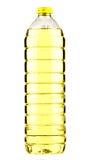 Sunflower-seedoljeflaska Arkivbilder