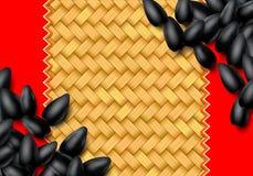 Sunflower seeds background with heap of black grains. Sunflower seeds background with heap of scattered black grains stock illustration