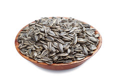 Sunflower seeds in bowl Stock Image