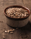 Sunflower seeds in a bowl Stock Photo