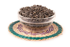 Sunflower seeds in the bowl on a stand Stock Photo