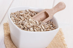 Sunflower seeds containing zinc and dietary fiber, healthy nutrition Royalty Free Stock Photo