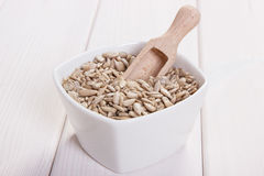 Sunflower seeds containing zinc and dietary fiber, healthy nutrition Royalty Free Stock Photography