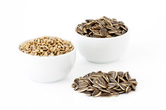 Sunflower seeds different ways Royalty Free Stock Photos