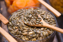 Sunflower seeds grains for eating Royalty Free Stock Image