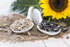 Sunflower Seeds (Macro Shot) Stock Photo