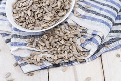 Sunflower Seeds (Macro Shot) Stock Image