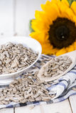 Sunflower Seeds (Macro Shot) Stock Photography