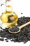 Sunflower seeds and oil Royalty Free Stock Photo