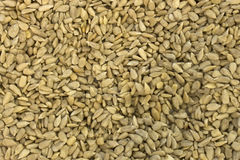 Sunflower Seeds. This is a photograph of hulled Sunflower Seeds Royalty Free Stock Photography