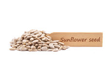 Sunflower seeds at plate Stock Photos